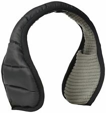 180s Men's Down Puffy Black Adjustable Behind-the-Head Ear Warmers Ear Muffs NEW