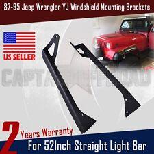 """For 52"""" Straight LED Light bar Roof Mounting Bracket*2 87~95 Jeep YJ Wrangler AP"""