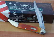 "BEAR & SON KODIAK LARGE 5"" TOOTHPICK POCKET KNIFE AUTUMN FEATHER JIG BONE K6193"
