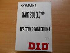 Orig. Libro officina Manuale di riparazione Yamaha XJR 1300 L 5EA Modello 99