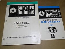 1981 Chrysler 35_45 hp Outboard Motor Factory Service/Owners Manual SET_UNUSED