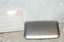 New Mary Kay Foundation Silver Compact Mirror NIB & Bonus NIP Round Brush 869100