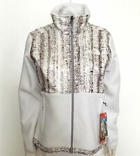 NEW The North Face DENALI Jacket Fleece White Birch Print Women's Medium