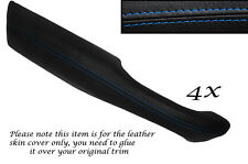 BLUE STITCH 4X DOOR HANDLE ARMREST LEATHER COVERS FITS RANGE ROVER P38 94-02