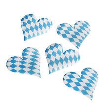 70 Deko Accessoires 4,5 x 0,2 cm Bayrisch Blau Wiesn Oktoberfest Bayrisch Herzen