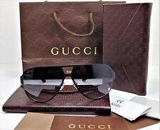 Gucci GG 2252/S  BLACK Men's Aviator Sunglasses 100% Authentic BRAND NEW