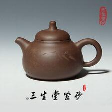 Rare Chinese handmade bamboo of yixing zisha Purple clay teapot xb