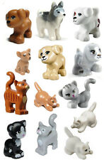 LEGO 13 pcs NEW DOG CAT HUGE LOT Pet Animal Friends Minifigure Figure Minifig