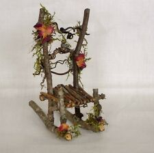 Fairy Garden Miniature Dollhouse TWIG Furniture ROCKING CHAIR  Crafted Hand Made