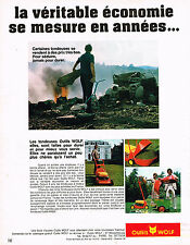 PUBLICITE ADVERTISING 024   1972   OUTILS WOLF   tondeuse