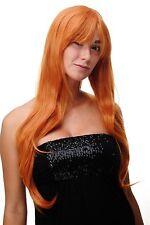 Perücke Orange Orange-Rot lang Scheitel sexy Wig ca. 70cm 3111-T2735