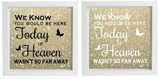 Vinyl Sticker Fits 20x20cm DIY Box Frame We know you would be here today QUOTE