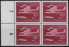 Germany Third Reich Mi# 867 MNH 25th Anniversary of Air Service 1944 Block of **