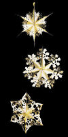 3 Foil Starburst Hanging GOLD Stars Christmas snowflake Frozen Party Decoration