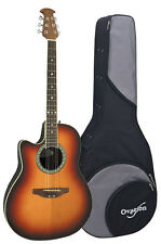 Ovation Celebrity LCC047 Left-Handed Acoustic Guitar - Honey Burst w/ Case