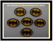 6) BATMAN Resin FlatBacks DIY Hair Bow Buttons Cabochon Button Super Hero