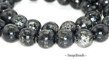 10MM DARK KNIGHT BIOTITE GEMSTONE BLACK ROUND 10MM LOOSE BEADS 16""