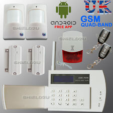 LCD SECURITY WIRELESS DUAL GSM AUTODIAL HOME HOUSE OFFICE BURGLAR INTRUDER ALARM