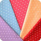 Hearts & Spotty Fabric FAT QUARTER 100% Cotton 1mm Polka Dot Pink, Blue, Red.
