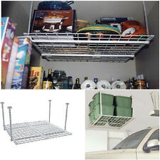 Storage Shelf Ceiling Garage Overhead Raises Rack Hanging Organizer Laundry Room