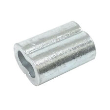 """10ea Zinc Plated Copper Swage Sleeves for Wire Rope 1/4"""""""