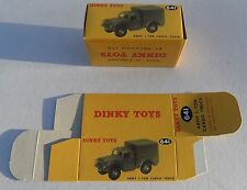 High Quality Reproduction Dinky Military Boxes - 641 Army 1 Ton Cargo Truck