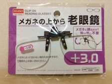 DAISO JAPAN Optical Clip-on Flip-up Magnifying Reading Glasses +3.00 by Airmail