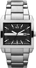 **NEW** MENS ARMANI EXCHANGE AX BLACK SQUARE TENNO  WATCH - AX2200 - RRP £149