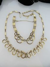 Vintage Sarah Coventry Celestial Fire Necklace and Bracelet