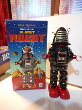 tole tin toy action robot planet mecanique mechanical robby *