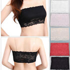 New Sexy Ladies Womens Strapless Lace Boob Tube Top Bandeau Bra 3 Colors