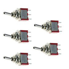 5 x On/Off/On 3Pin Mini Momentary Toggle Switch Car Dashboard SPDT Pole Sales