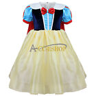 Girls Snow White Princess Halloween Party Cosplay Costume Fancy Fairy Baby Dress