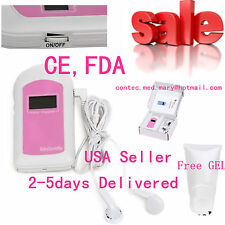CONTEC-USA,Handheld Baby Monitor Fetal Heart Rate Doppler,Baby Sound B LCD+GeL