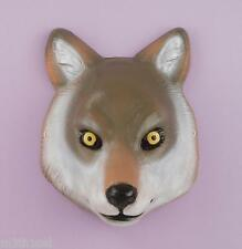 Child Wolf Mask Plastic Animal Fox Dog Werewolf Costume Accessory Halloween NEW