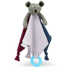 Mr Ted Baby Comforter & Teething Rattle Soft Toy Security Blanket