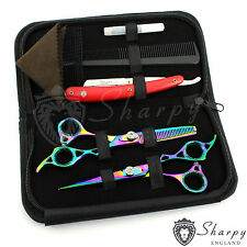Shapry Professional Barber Hairdressing Scissor Thinning & Hair Cutting Set 6.5""