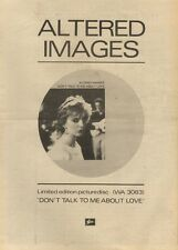 2/4/83PN16 ADVERT: ALTERED IMAGES PICTUREDISC DONT TALK TO ME ABOUT LOVE