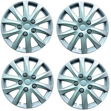 "Phoenix 16"" Car Wheel Trims Hub Caps Plastic Covers Silver Universal (4Pcs)"