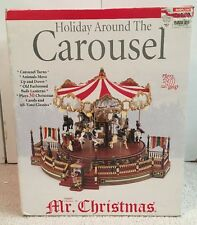 Mr. Christmas Holiday Around The Carousel 2003 New In Box