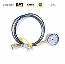 400BAR/6000PSI Bobcat excvavtor Hydraulic Test Coupling and gauge hose Kit
