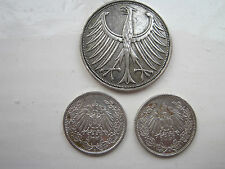 Germany a small collection of High silver content coins Qty 3
