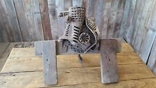 Antique Cast-Iron Hand Crank Fulton Corn Sheller Old Vintage Farm Tool