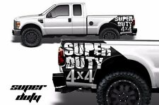 Vinyl Decal Superduty 4X4 Wrap for Ford F-250/F-350 Truck 2007-2010 Matte Black
