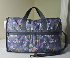 LeSportsac Charisma Floral 7185 Large Weekender Duffle Travel Bag