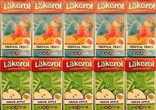 Lakerol Sugarfree Pastilles Green Apple 5 Box & Tropical Fruits 5 Box