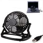 Portable Mini Notebook Laptop Desktop Quiet PC USB Cooler Cooling Desk Fan Black
