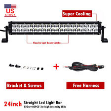 24INCH 120W COMBO LED Work Light Bar Offroad Driving Lamp SUV Car Boat 4WD Truck