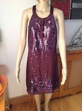 STUNNING NEXT SIGNATURE AUBERGINE HALTER-NECK EVENING DRESS UK SIZE 8 BNWT