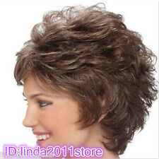 **Short Ladies fashion Curly Brown Natural Hair Women's Wigs/wig cap**